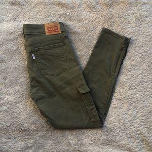 Levi Skinny Jeans 26 Green